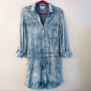 Cloth and Stone Stripes denim jumpsuit